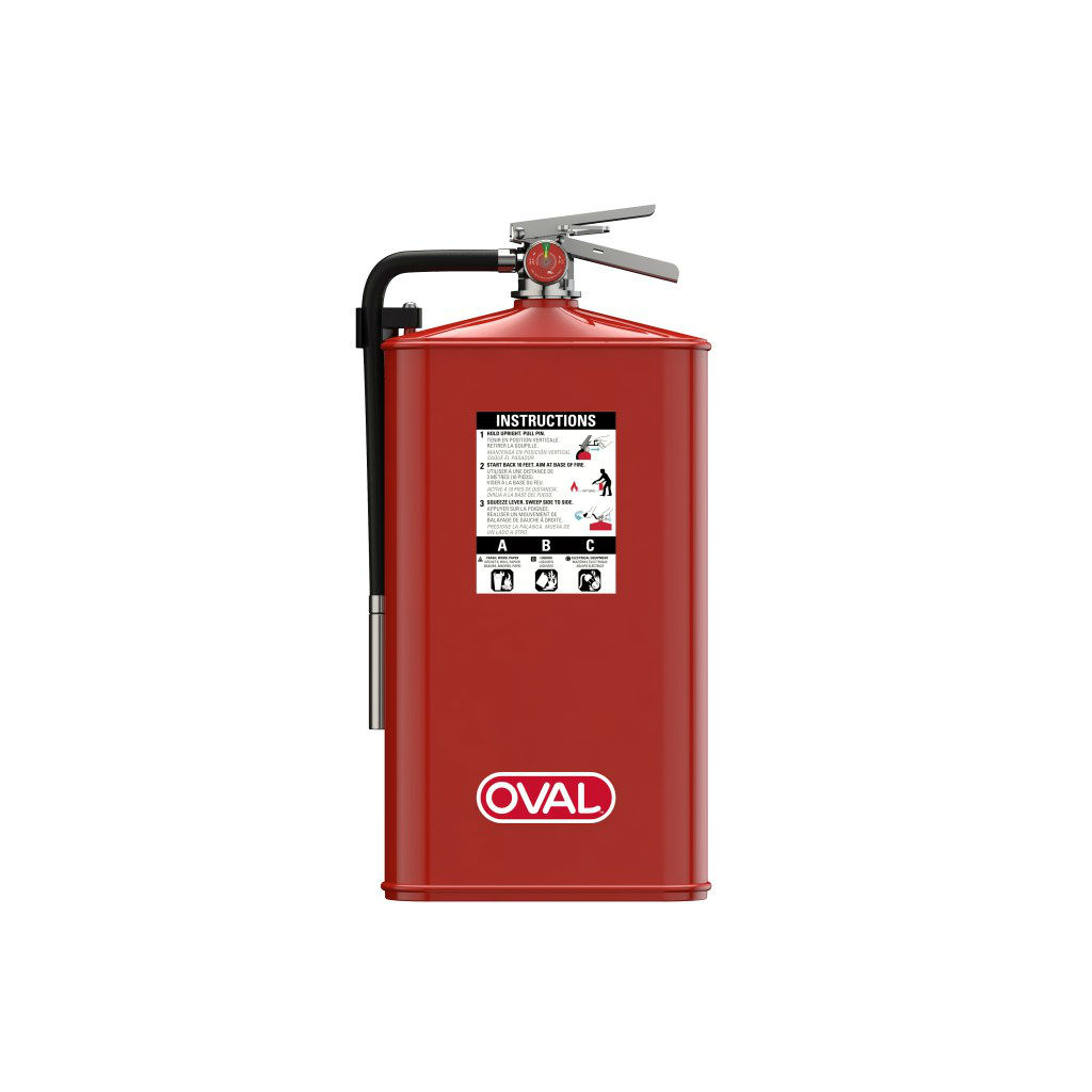 oval fire extinguisher 10JABC Front
